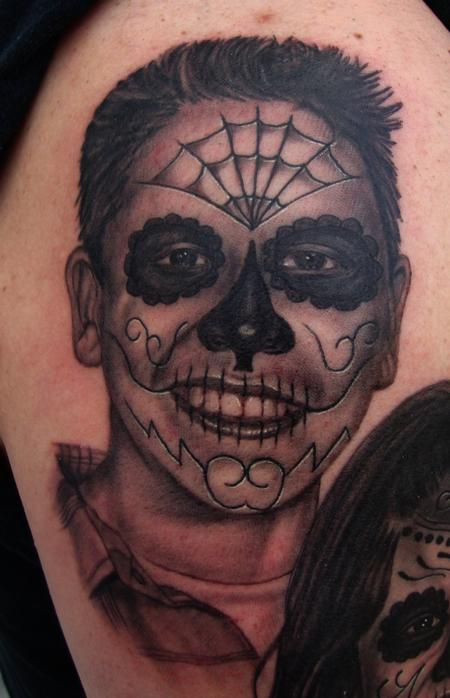 Tattoos - Son's Day of the Dead Portrait - 106600
