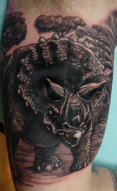 Tattoos - Triceratops - 100680