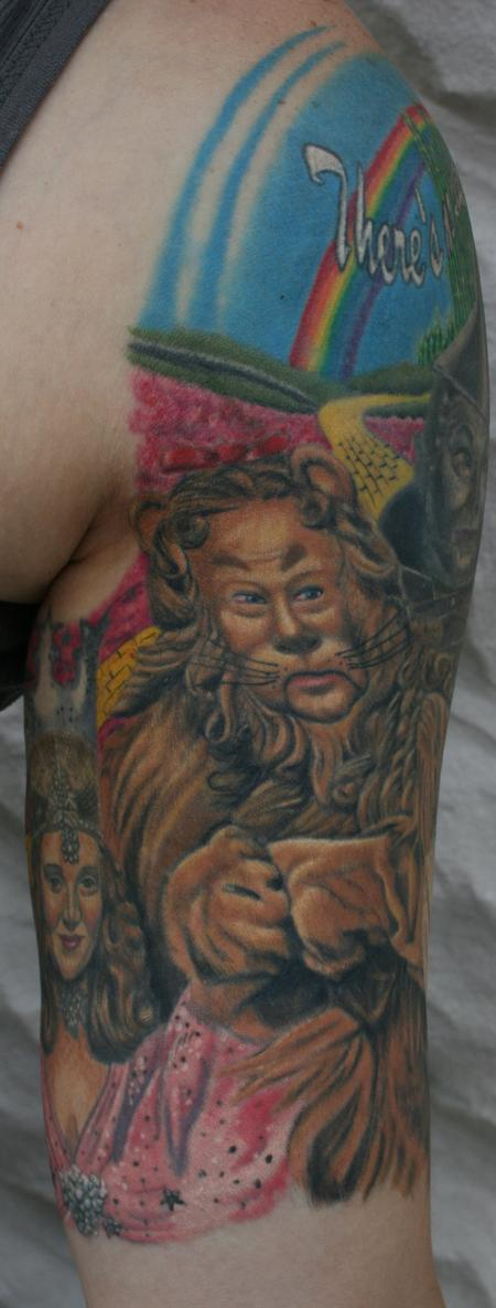 Tattoos - Cowardly Lion- Wizard of Oz - 98027