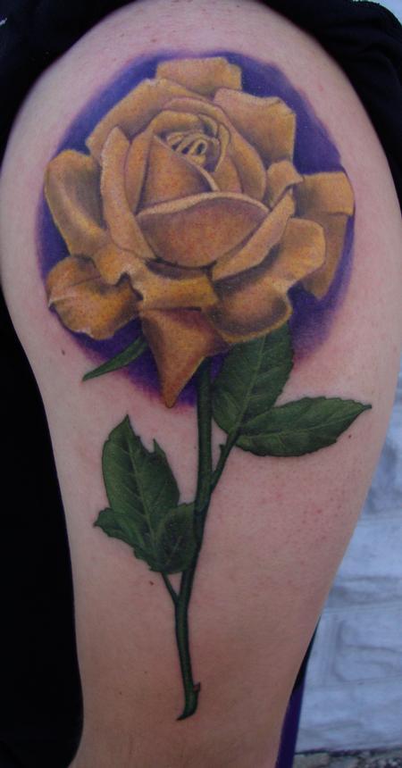 Tattoos - Yellow Rose - 107860