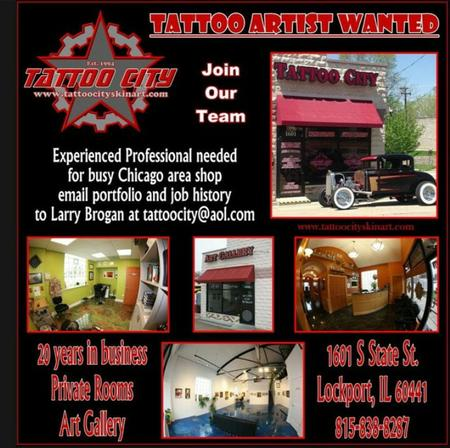 Tattoos - Tattoo Artist Wanted - 99576