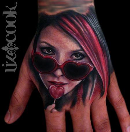 Tattoos - Lollipop Hand Portrait - 64239