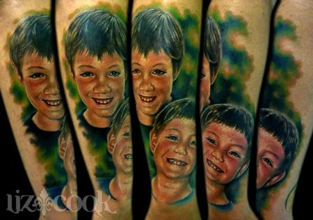 Tattoos - Simon's portraits of his boys. - 67101