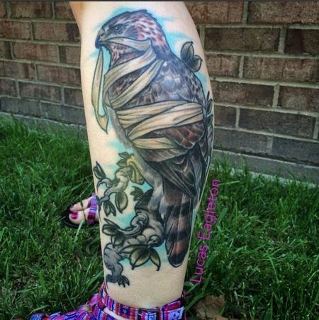 Tattoos - Bandaged Hawk - 109490