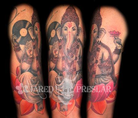 Jared Preslar - Ganesh Tattoo