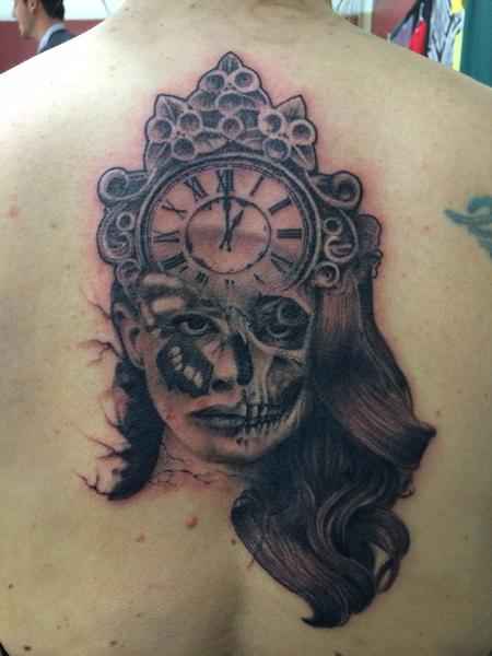 Jared Preslar - Skull butterfly woman