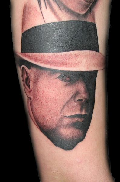 Jared Preslar - Black and Gray Portrait Tattoo