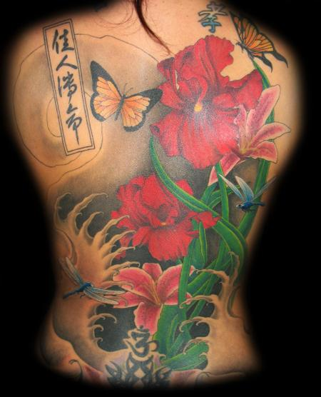 Jared Preslar - Floral Back piece