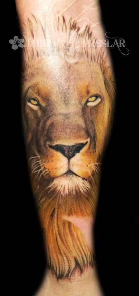 Jared Preslar - Lion Tattoo  in Progress