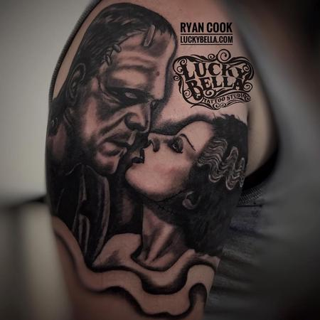 The Monster and his Bride by Ryan Cook at Lucky Bella Tattoos in North Little Rock  Design Thumbnail