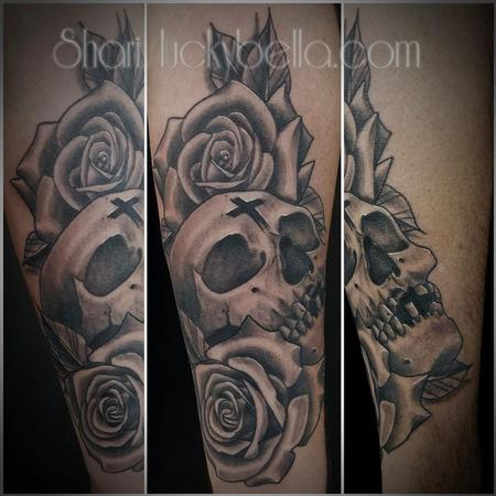Tattoos - skull and roses  - 130506