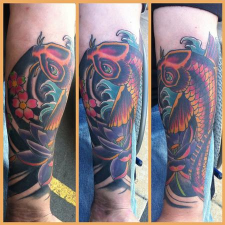 Tattoos - koi and lotus - 64479