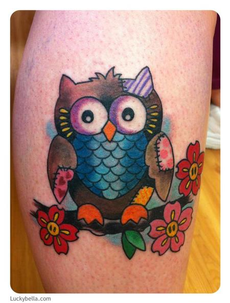 Tattoos - patchwork owl - 62799