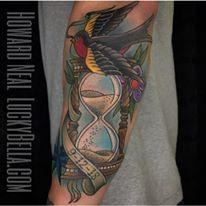 Tattoos - Hourglass and Sparrow - 137564