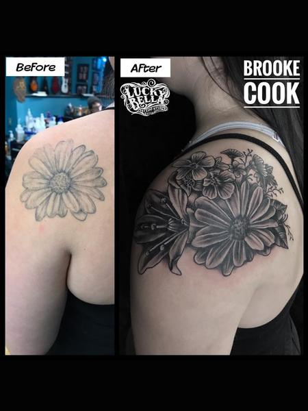 Tattoos - Flower Fixer Upper by Brooke Cook at Lucky Bella Tattoos in North Little Rock Arkansas - 137545