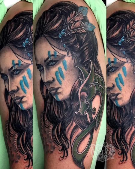 Tattoos - Celtic Warrior Woman  - 137404