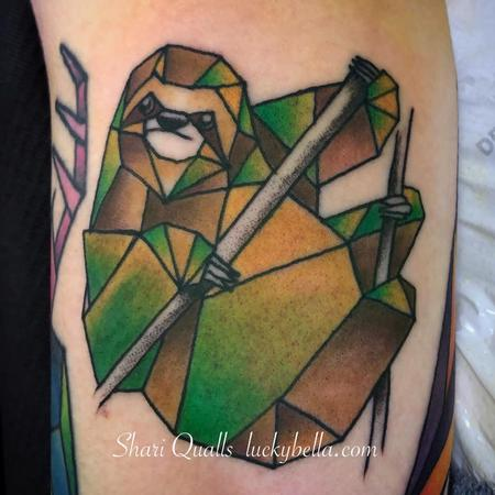 Tattoos - Geometric Sloth  - 137441