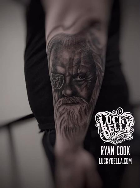 Tattoos - Odin by Ryan Cook at Lucky Bella Tattoos in North Little Rock  - 138747
