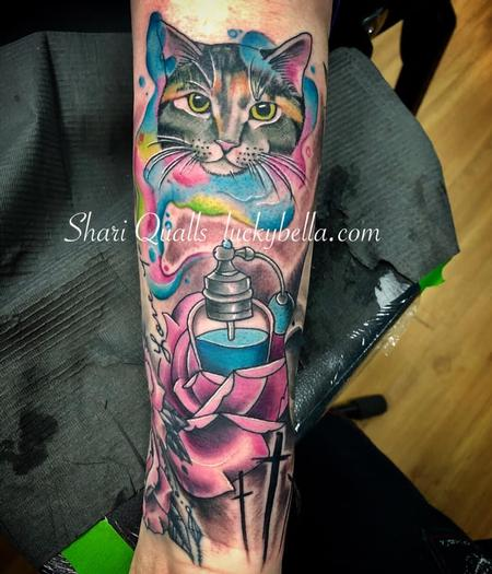 Tattoos - Cat and Perfume Bottle  - 138973