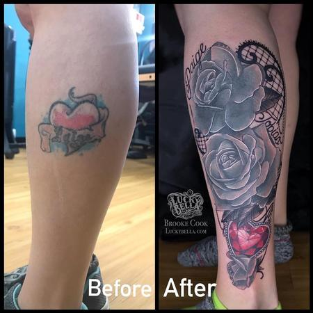 Tattoos - Family Tattoo Coverup by Brooke Cook at Lucky Bella Tattoos in North Little Rock Arkansas - 140421