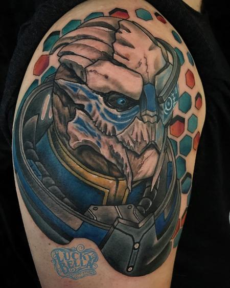 Tattoos - Mass Effect Tattoo by Howard Neal at Lucky Bella Tattoos in North Little Rock  - 140875