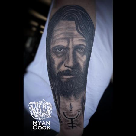 Ryan Cook - Sirius Black Portrait by Ryan Cook at Lucky Bella Tattoos in North Little Rock