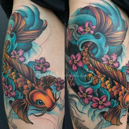 Tattoos - Koi Fish Rework by Shari Qualls at Lucky Bella in North Little Rock  - 141666