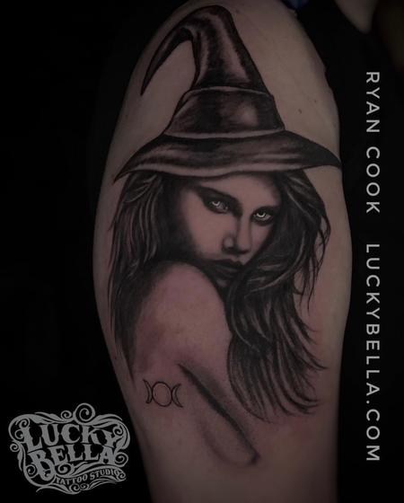 Tattoos - Witchy Woman by Ryan Cook at Lucky Bella Tattoos in North Little Rock  - 136205