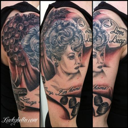 Tattoos - I love Lucy half sleeve - 66177