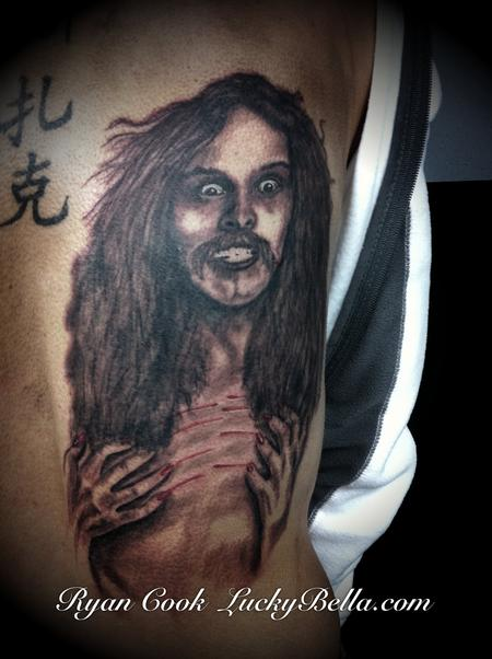 Ryan Cook - Ted Nugent Portrait ,  Cat Scratch Fever days.  Call or text 501-733-5984 for an appointment