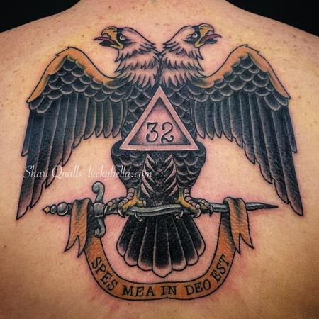 Tattoos - Double Headed Eagle by Shari Qualls at Lucky Bella Tattoos in North Little Rock Arkansas - 138420