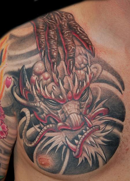 Marvin Silva - Dragon Head Tattoo