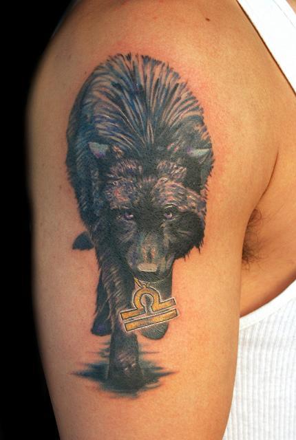 Tattoos - Dark Wolf Tattoo - 57346
