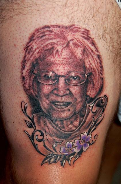 Marvin Silva - Grandma Portrait Tattoo