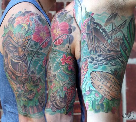 Tattoos - Matt's Tiki Tattoo - 95298