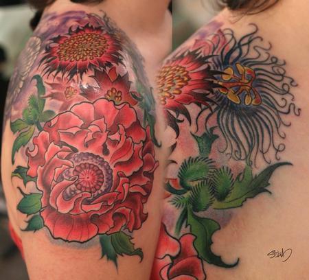 Tattoos - Flowers Tattoo - 95305