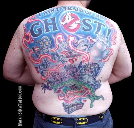 Tattoos - Ghostbusters Back Piece Tattoo - 78037