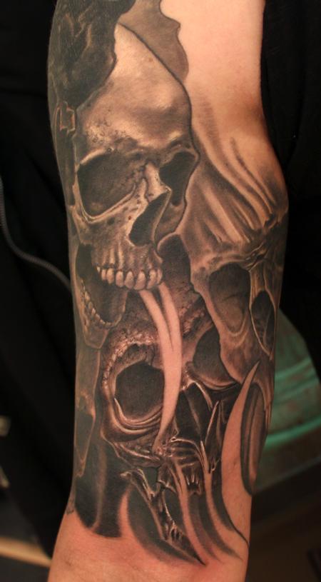 Tattoos - Custom Skull Tattoo - 114280