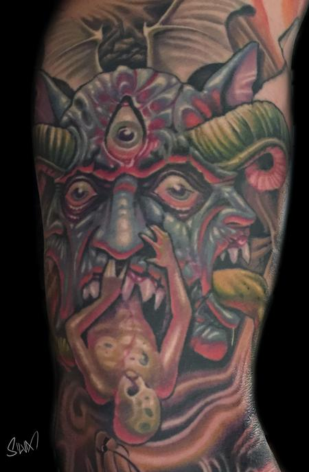 Tattoos - Custom Demon Tattoo - 107829