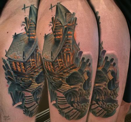 Tattoos - Custom Collaboration Skull Tattoo - 115752