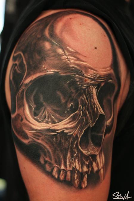 Tattoos - Custom Skull Tattoo - 100601