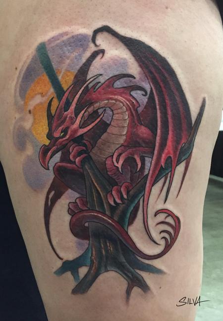 Tattoos - Custom Dragon Tattoo - 115753