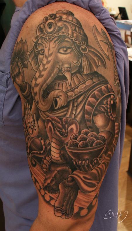 Tattoos - Custom Ganesh Tattoo - 115320