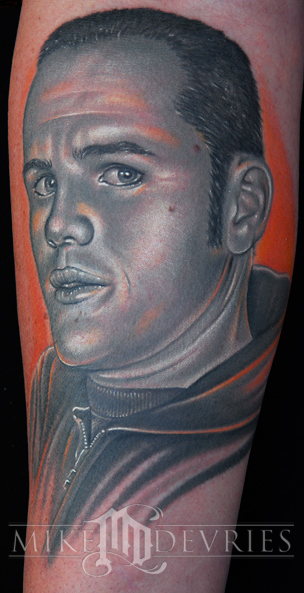 Mike DeVries - Portrait Tattoo