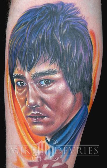 Mike DeVries - Bruce Lee Tattoo