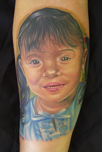 Tattoos - Daughter portrait - 17843