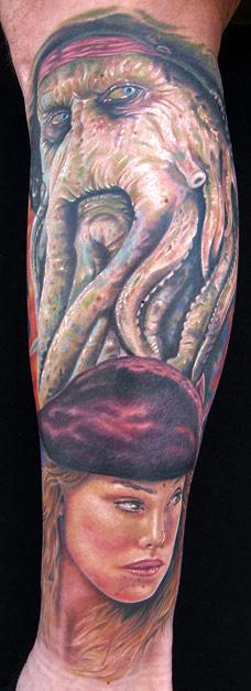 Tattoos - Davey jones  - 19042