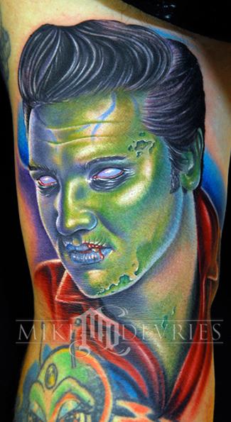 Tattoos - Zombie Elvis Tattoo - 26275