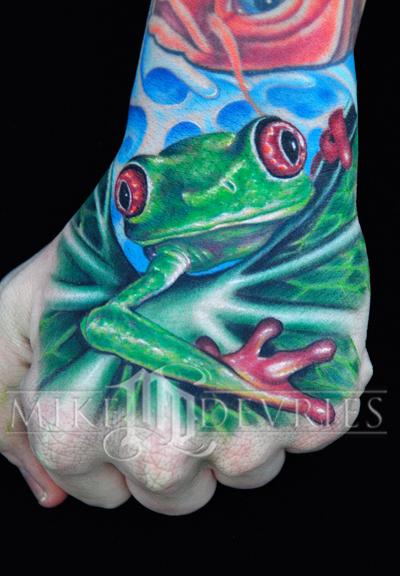 Tattoos - Frog Tattoo - 25592