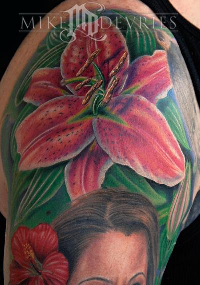 Tattoos - Flower Tattoo - 23755